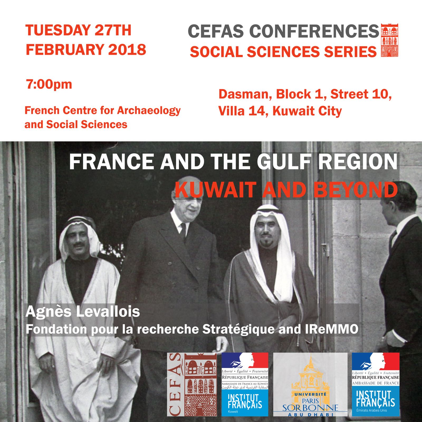 Poster France and the Gulf
